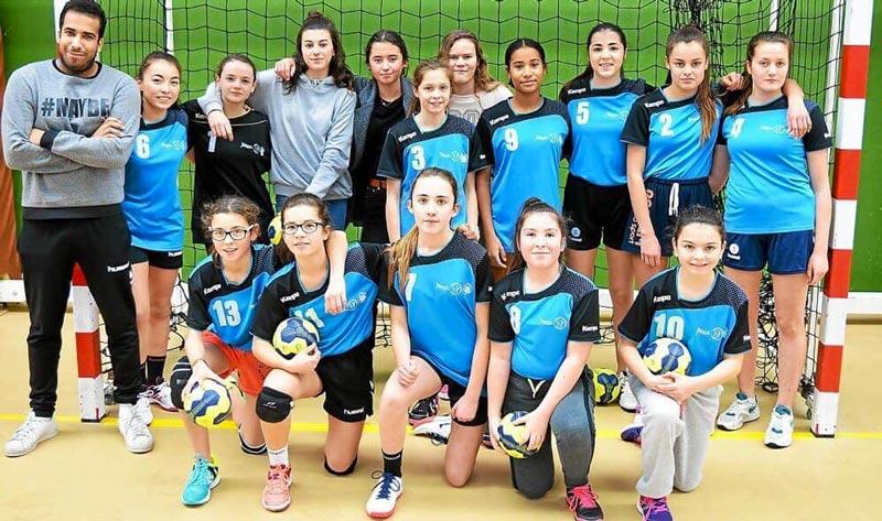 Équipe 2 -15 ans filles - Ergué Quimper Handball
